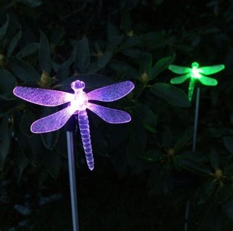 solar powered dragonfly garden lights solar powered led garden light envirogadget part 2