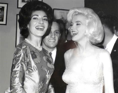 Maria Callas Marilyn Monroe | maria callas meets marilyn monroe at jfk s birthday party