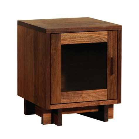 Glass Nightstand Modern American Glass Door Nightstand Solid Hardwood