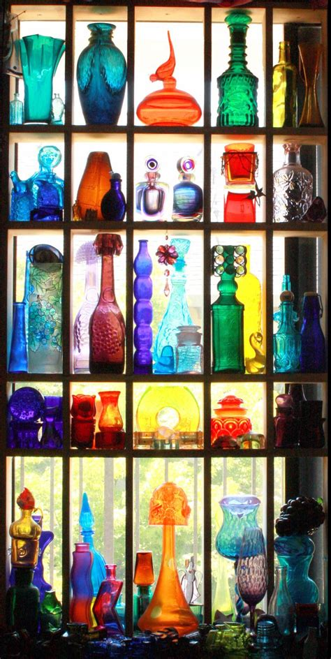 Colored Glass by Best 25 Colored Glass Bottles Ideas On Colored Glass Tinting Jars And Coloured Glass