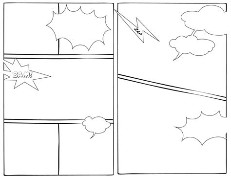 book templates for 7 best images of printable comic book layout template