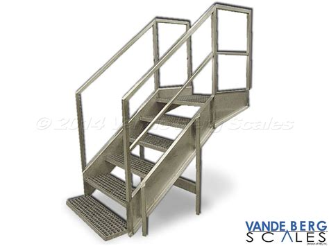 Portable Stairs With Handrail Industrial Walk Overs And Stairwells