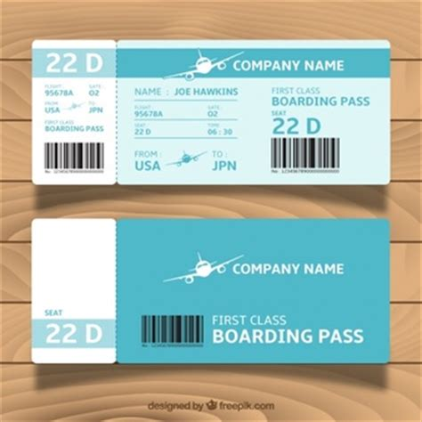 template undangan boarding pass cartoon airplane flying for children design vector free