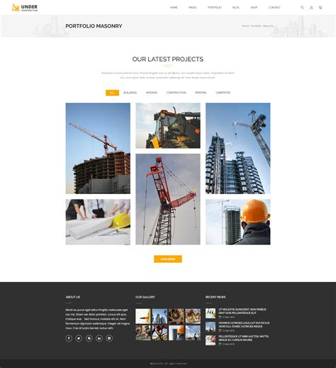 Under Construction Building And Business Psd Template By Gtcreators Construction Portfolio Template