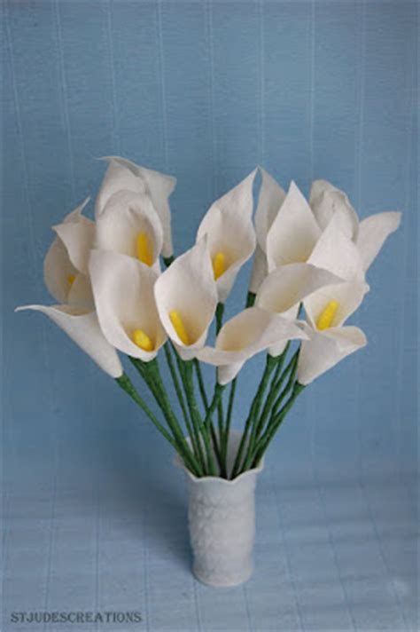 How To Make Lilies Out Of Paper - paper calla lilies handmade paper flowers by
