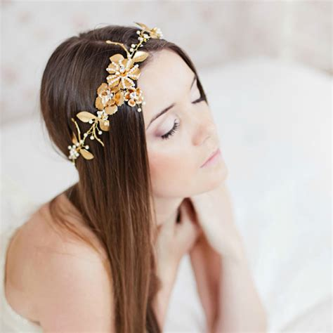 Wedding Hair Accessories Gold by Gold Hair Accessories
