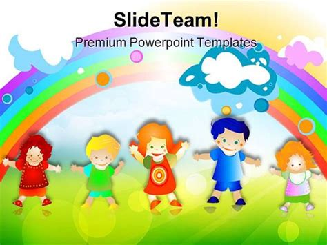 Happy Kids Children Powerpoint Templates And Powerpoint Background Authorstream Free Children Powerpoint Templates