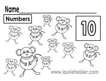 monkey number match worksheets preschool monkey best