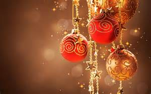 red and golden christmas decorations wallpaper 1070137