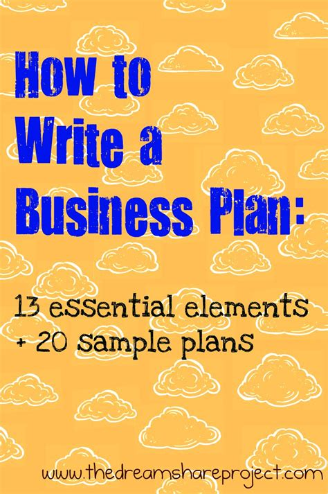 how to develop a business plan template how to write a business plan our