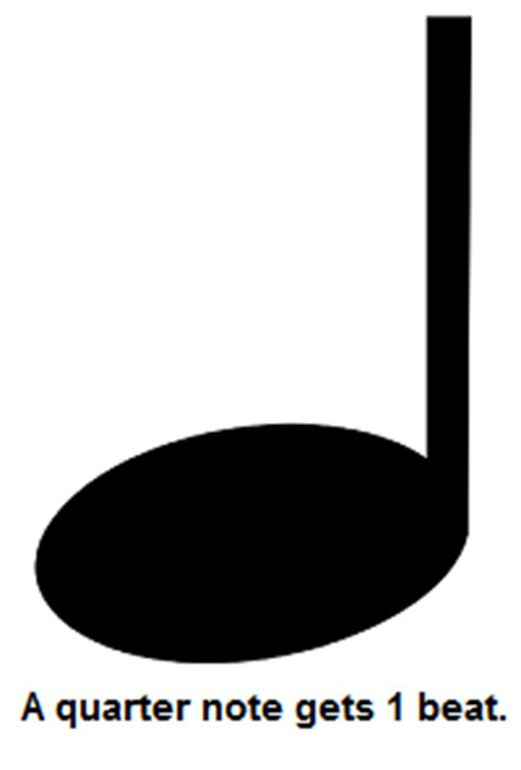 Large Printable Quarter Note | play quot general music review quot flipquiz