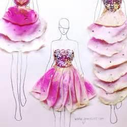 designing dresses with real flower petals vuing com