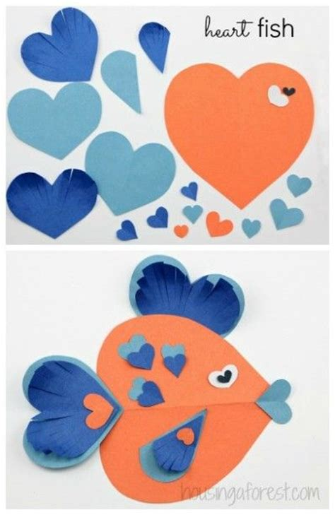 valentines day fish lots of shaped animal ideas simple valentines day