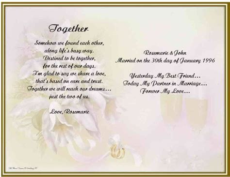wedding anniversary poems for my personalized wedding anniversary poem gift for husband ebay