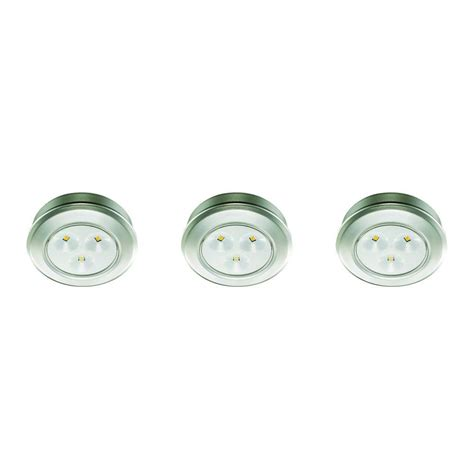 battery operated picture lights home depot commercial electric 2 99 in led silver battery operated