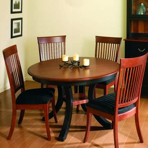 harrison amish dining table two skirted leaves
