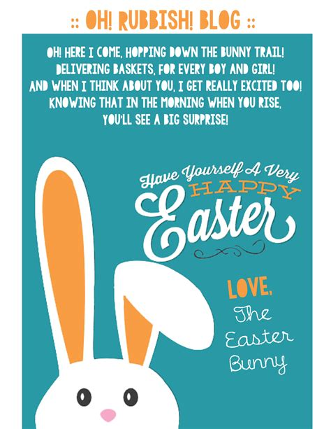 free printable letters easter bunny a letter from the easter bunny printable easter bunny