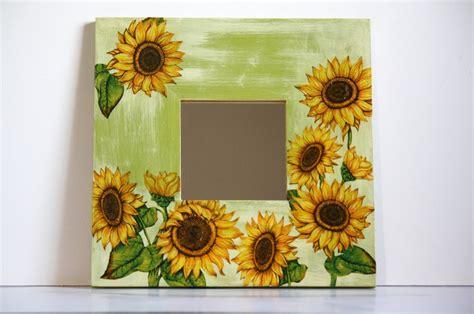sunflower home decor sunflower decoupage mirror home decor living room handmade