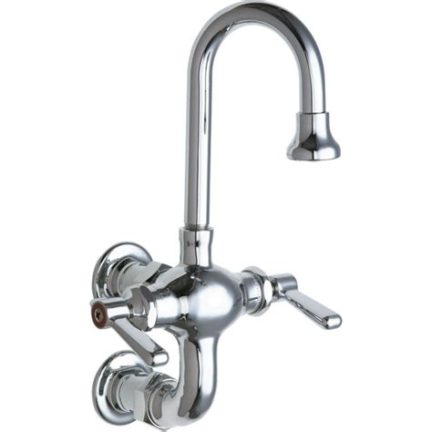 chicago kitchen faucet chicago faucets 2 handle kitchen faucet in chrome with 3 3 8 in center to center rigid