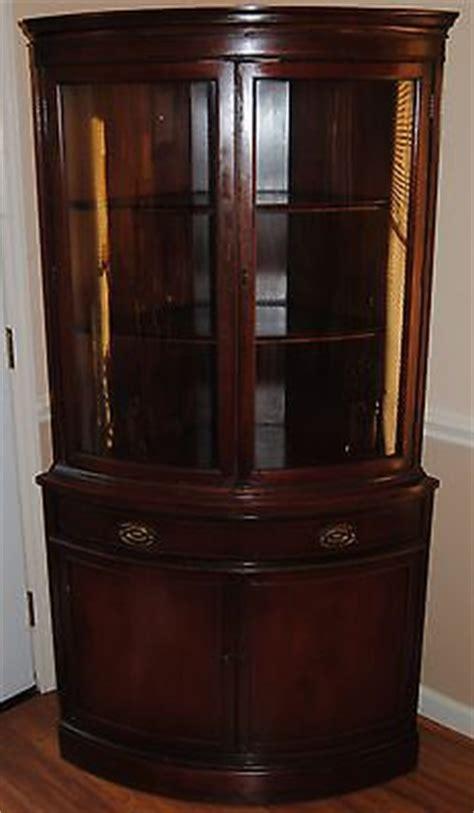 value of antique corner china cabinet 1950s vintage bassett corner china cabinet with curved