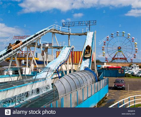 theme park lincolnshire log flume at skegness seafront amusement park lincolnshire