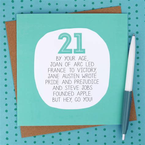 What To Write In A 21st Birthday Card