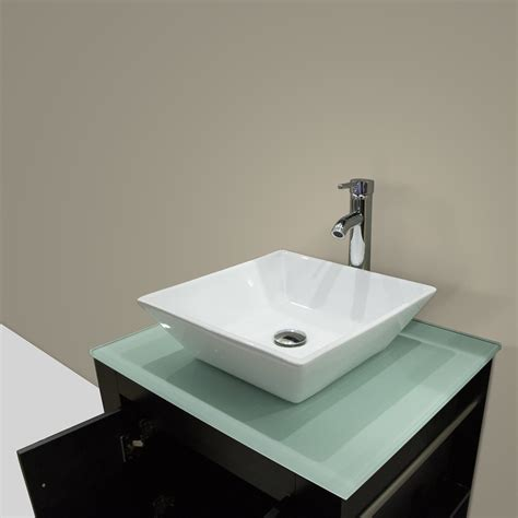 Bathroom vessel sinks bathroom sinks the home depot with white wall design and small glass