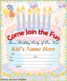 Birthday Invite Templates by Birthday Invitation Template Word Excel Pdf