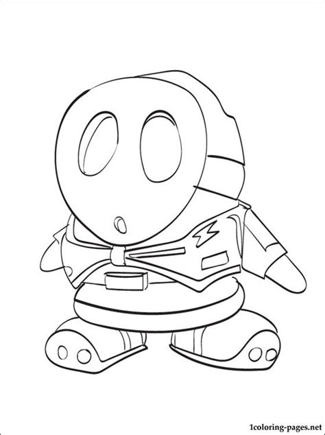 free coloring pages of mario shy guy