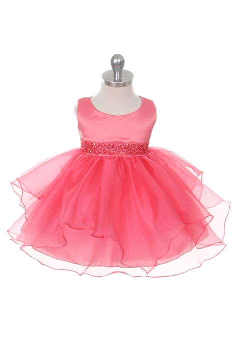 cbcob girls dress style  coral sleeveless