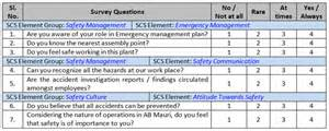 Safety Survey Template by Safety Culture Survey Safety Perception Survey Cholarisk