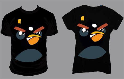 Kaos Birds Black t shirt angry bird cop1 warung sablon batang
