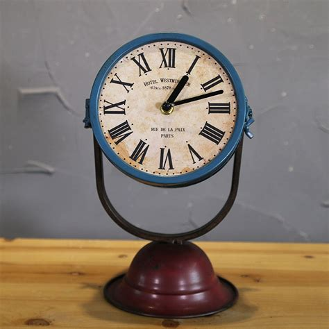 Vintage Retro Cooper Harley Metal Iron Table Clock Jam Meja table clocks a vintage midcentury smiths electric callboy bedside clock table clock oru2026