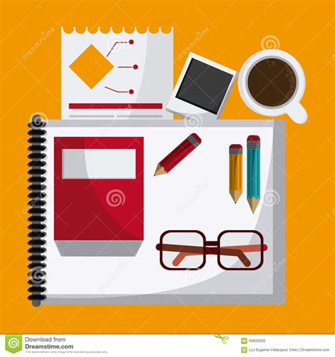 icon design office office icons design stock vector image 65830930
