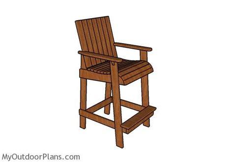 bar height adirondack chair plans diy plans
