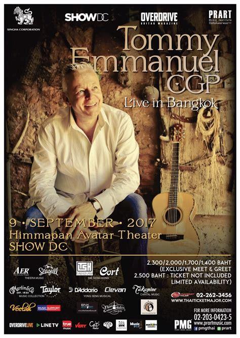 Guitar Giveaway Contests - tommy emmanuel live in bangkok overdrive acoustic guitar contest 2017 headbangkok