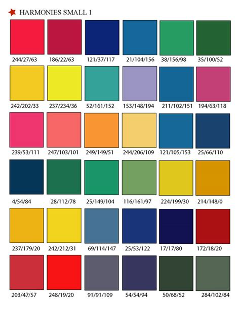 printable rgb color palette swatches my practical skills my practical skills
