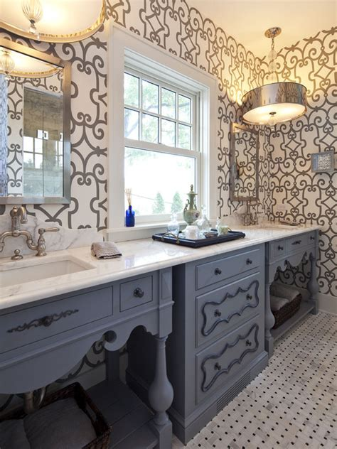 gray and blue bathroom ideas eclectic bathroom hendel homes