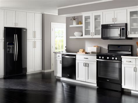 black kitchen appliance package whirlpool black ice innerspace interior design blog trends are stainless