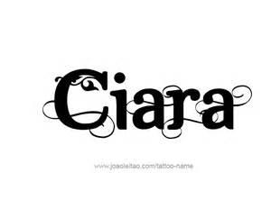 ciara name tattoo designs