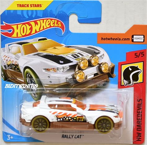 Wheels Hotwheels Rally Cat wheels 2018 hw daredevils rally cat white card