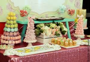Buffet Dessert Table And Sweet A Sweet Pastel Baby Sprinkle