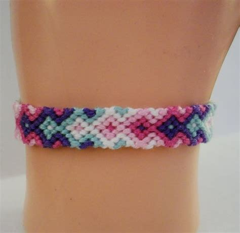 Make Macram Cord Bracelet Patterns Home - colored arrowhead pattern embroidery macrame