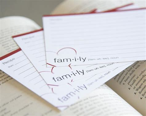Meaning Of Gift Card - definition of family recipe cards exquisite inks