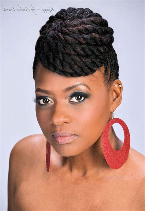 black woman twist hair styles up in pony tails mohawk braid styles black women african hairstyle women