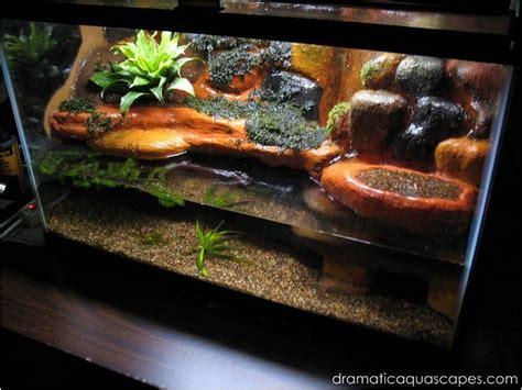 dramatic aquascapes diy aquarium background plateau
