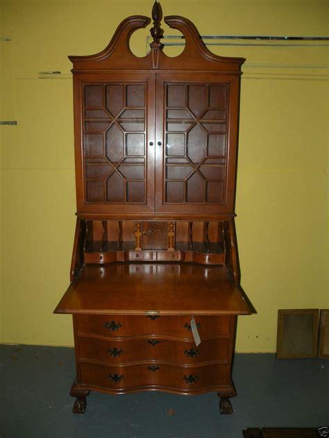 antique drop front secretary desk with hutch ball claw foot drop front secretary desk bookcase
