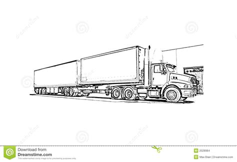 coloring book exles truck stock images image 2028984