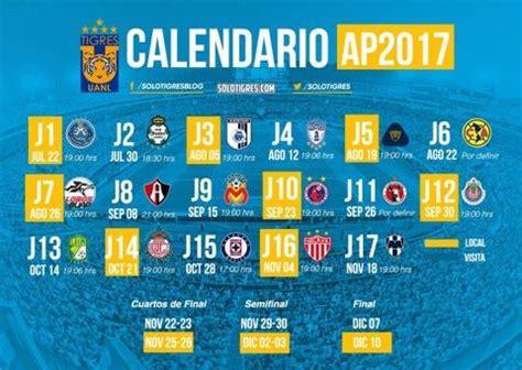 Calendario Liga Mx Tigres Se Define El Calendario De Los Tigres Para El Apertura