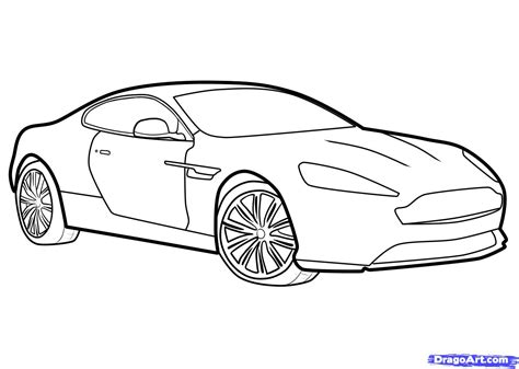 car drawing how to draw an aston martin aston martin virage step by